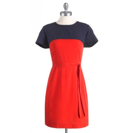 Image for COLORBLOCK SHIFT DRESS WITH SELF TIE from Tommy Hilfiger USA