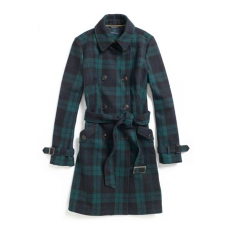 Image for PLAID WOOL TRENCH COAT from Tommy Hilfiger USA