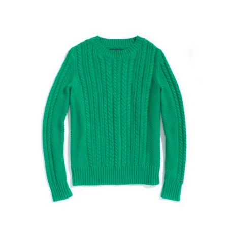 Image for LONG SLEEVE CABLE CREW NECK SWEATER from Tommy Hilfiger USA