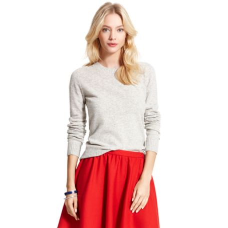 Image for CABLE SLEEVE CREW NECK SWEATER from Tommy Hilfiger USA