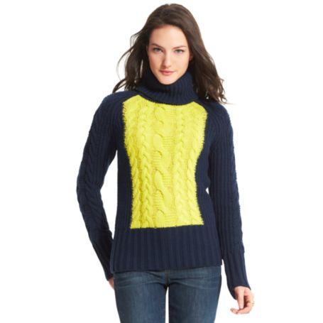 Image for CHUNKY CABLE TURTLENECK from Tommy Hilfiger USA