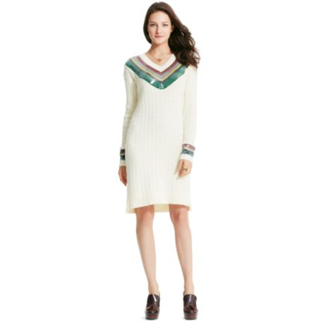Image for SEQUIN V-NECK SWEATER DRESS from Tommy Hilfiger USA