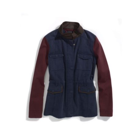 Image for COLORBLOCK COATED COTTON JACKET from Tommy Hilfiger USA