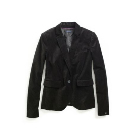 Image for VELVET PINDOT BLAZER from Tommy Hilfiger USA
