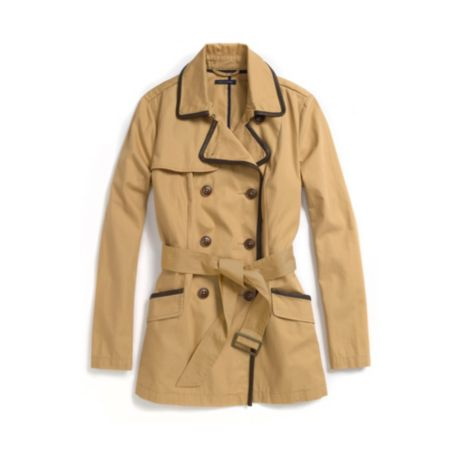 Image for CLASSIC PIPED SHORT TRENCH from Tommy Hilfiger USA