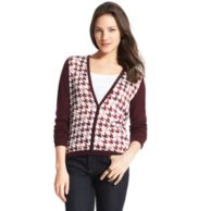 V-NECK HOUNDSTOOTH CARDIGAN $119.99