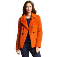 SOLID SHORT WOOL PEACOAT $249.99