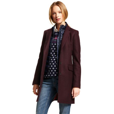 Image for HOUNDSTOOTH CROMBIE COAT from Tommy Hilfiger USA
