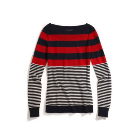 Image for STRIPE BOATNECK SWEATER from Tommy Hilfiger USA