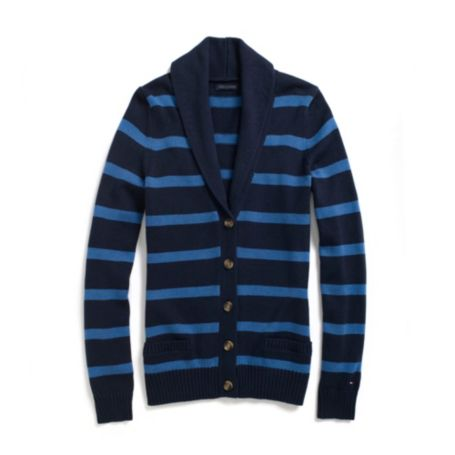 Image for STRIPE SHAWL CARDIGAN from Tommy Hilfiger USA
