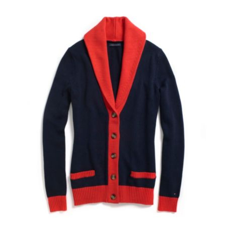 Image for TIPPED SHAWL CARDIGAN from Tommy Hilfiger USA