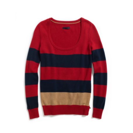 Image for STRIPE SCOOP NECK SWEATER from Tommy Hilfiger USA