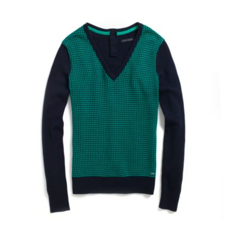 Image for HOUNDSTOOTH V-NECK SWEATER from Tommy Hilfiger USA