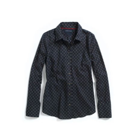 Image for LONG SLEEVE FOULARD SHIRT from Tommy Hilfiger USA