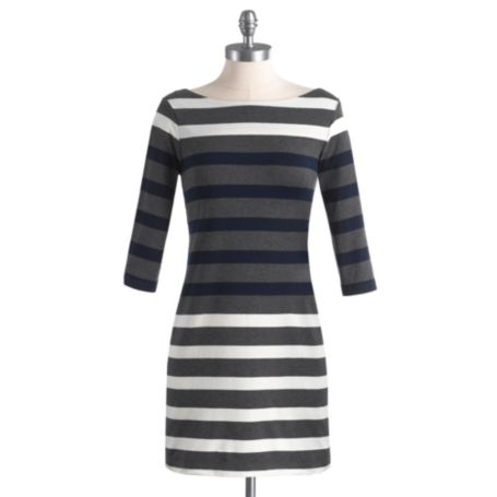 Image for 3/4 SLEEVE STRIPE SHIFT DRESS from Tommy Hilfiger USA