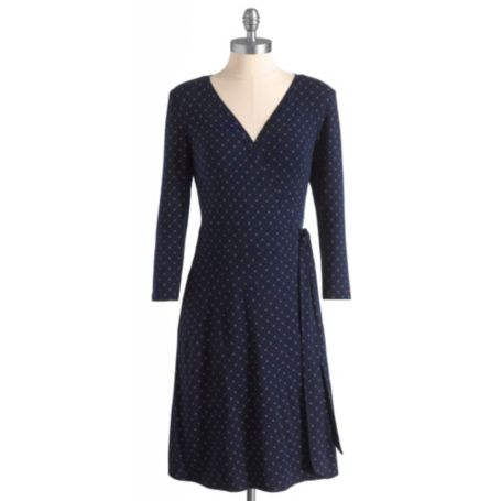 Image for TH LOGO PRINT WRAP DRESS from Tommy Hilfiger USA