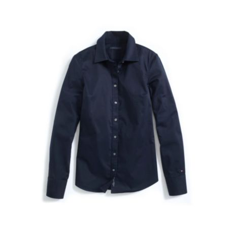 Image for STRETCH SATEEN LONG SLEEVE SOLID SHIRT from Tommy Hilfiger USA