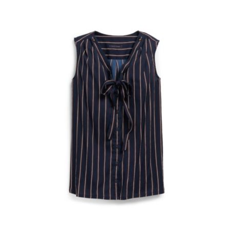 Image for SOLID STRIPE SOFT BLOUSE from Tommy Hilfiger USA