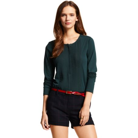 Image for LONG SLEEVE CHIFFON HENLEY from Tommy Hilfiger USA