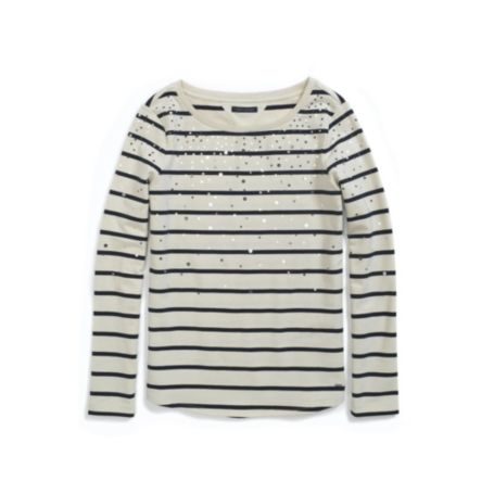 Image for EMBELLISHED STRIPED FLEECE PULLLOVER from Tommy Hilfiger USA