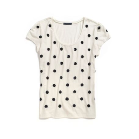 Image for SEQUIN DOT TEE from Tommy Hilfiger USA