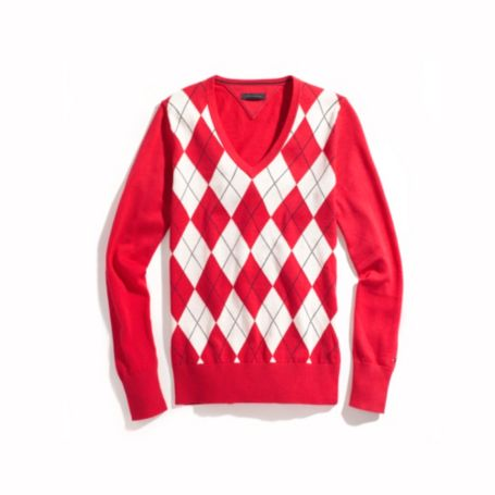 Image for ARGYLE V-NECK SWEATER from Tommy Hilfiger USA