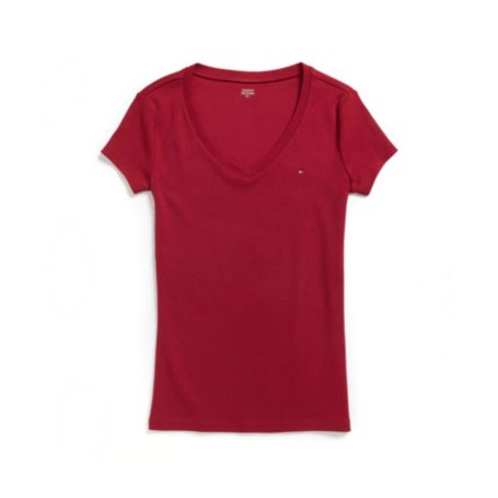 Image for SHORT SLEEVE FAVORITE V-NECK TEE from Tommy Hilfiger USA
