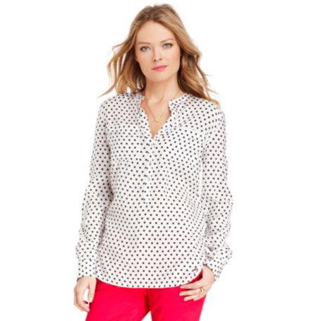 Image for POLKADOT BLOUSE from Tommy Hilfiger USA