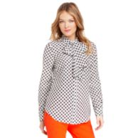 PRINTED BOW BLOUSE $99.99
