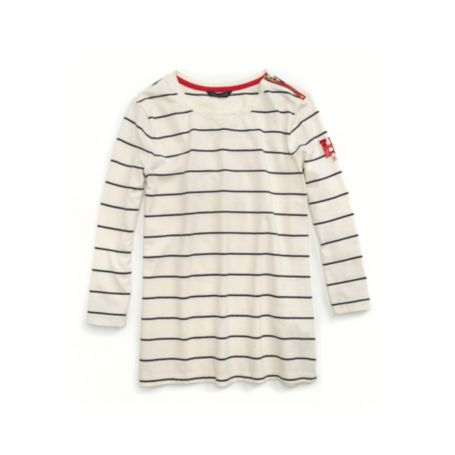 Image for THIN STRIPE KNIT H SEQUIN TOP from Tommy Hilfiger USA