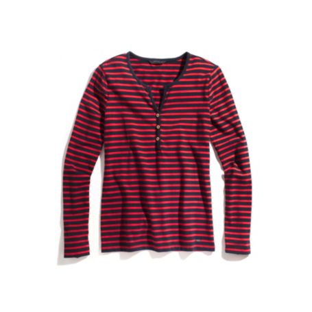 Image for STRIPE 3 BUTTON SPLIT NECK TEE from Tommy Hilfiger USA