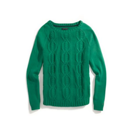 Image for CHUNKY LONG SLEEVE CABLE SWEATER from Tommy Hilfiger USA