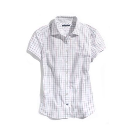 Image for WINDOW PANE SHORT SLEEVE OXFORD SHIRT from Tommy Hilfiger USA