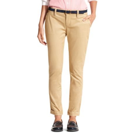 Image for CROPPED TWILL SOLID TROUSER from Tommy Hilfiger USA
