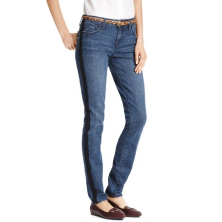 Image for SKINNY PRINTED TUXEDO STRIPE DENIM from Tommy Hilfiger USA