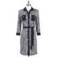 KNIT PRINT SHIRT DRESS $59.99