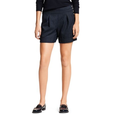 Image for STRIPE PLEATED SHORT from Tommy Hilfiger USA