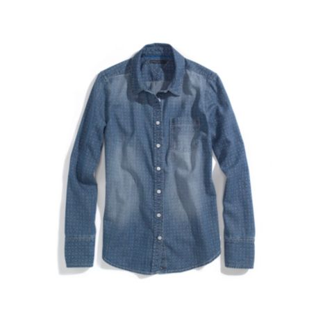 Image for CHAMBRAY FOULARD SHIRT from Tommy Hilfiger USA