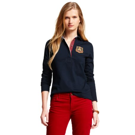 Image for SOLID LONG SLEEVE RUGBY from Tommy Hilfiger USA
