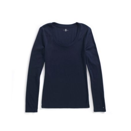 Image for LONG SLEEVE SCOOP NECK TEE from Tommy Hilfiger USA