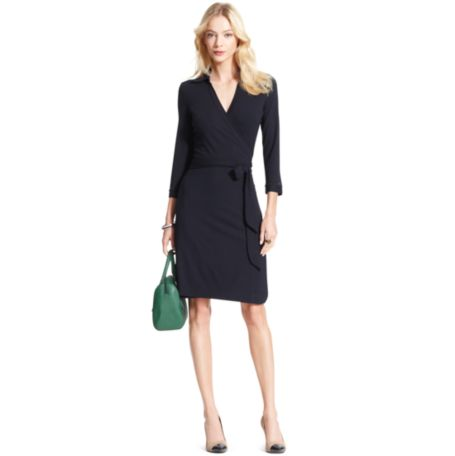 Image for SOLID WRAP DRESS from Tommy Hilfiger USA