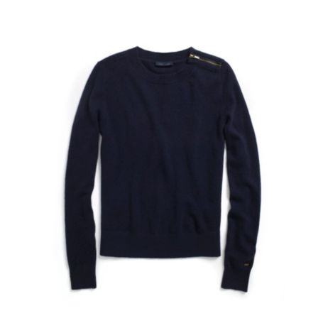 Image for CASHMERE ZIPPER CREW NECK SWEATER from Tommy Hilfiger USA