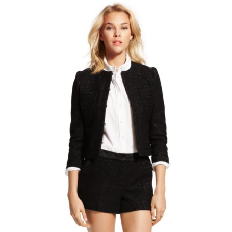 Image for METALLIC CROPPED JACKET from Tommy Hilfiger USA