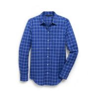 TWILL WINDOWPANE BOYFRIEND SHIRT $54.99