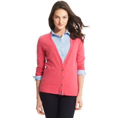 Image for CASHMERE V-NECK CARDIGAN from Tommy Hilfiger USA