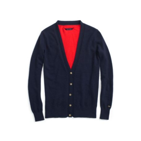 Image for COLORBLOCK V-NECK CASHMERE CARDIGAN from Tommy Hilfiger USA