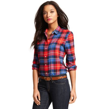 Image for BLACKWATCH BOYFRIEND SHIRT from Tommy Hilfiger USA
