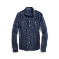 OVER DYE CHECK SHIRT $54.50