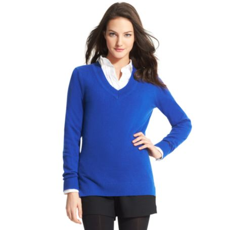 Image for CASHMERE V-NECK  SWEATER from Tommy Hilfiger USA