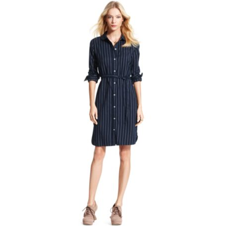 Image for STRIPE TWILL SHIRT DRESS from Tommy Hilfiger USA